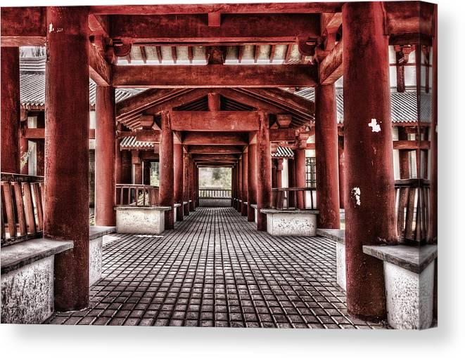 Temple Canvas Print featuring the photograph Balikun Xibo Temple by Lijie Zhou