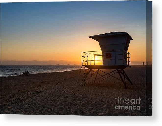 Beach Canvas Print featuring the photograph Beautiful Sunset In Point Mugu State Park In Malibu. by Jamie Pham