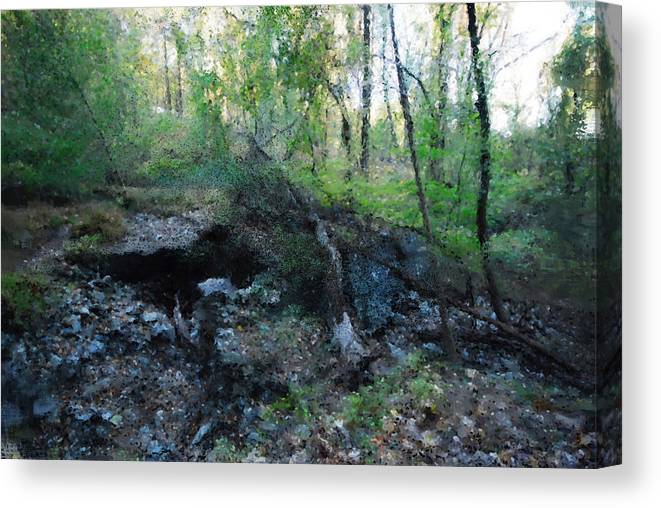 Landscape Canvas Print featuring the photograph But Now Am Lost by Jeff Oates Photography