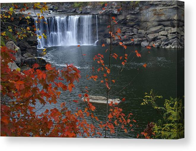 Cumberland Falls Canvas Print featuring the photograph Cumberland Falls by Bj Hodges