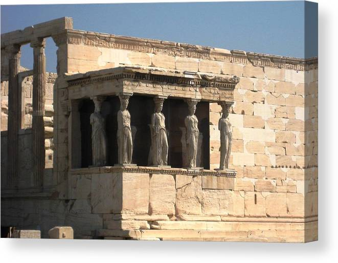 Athens Canvas Print featuring the photograph Erchtheion 5 by Teresa Ruiz