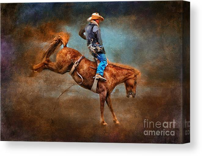 Equine Fine Art Canvas Print featuring the photograph Hang Time by Annette Coady