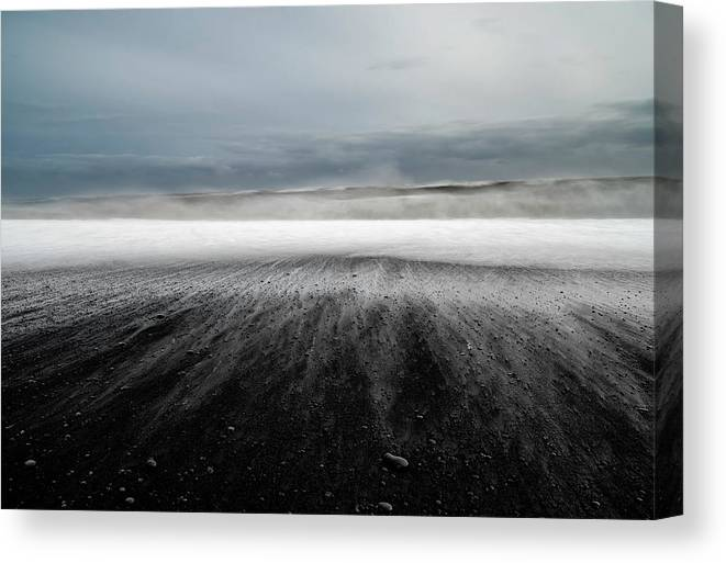 Landscape Canvas Print featuring the photograph Iceland Vik by Ronny Olsson