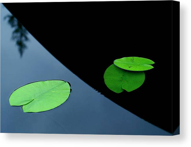 Water Canvas Print featuring the photograph In The Shade Off A Boat by Allan Wallberg
