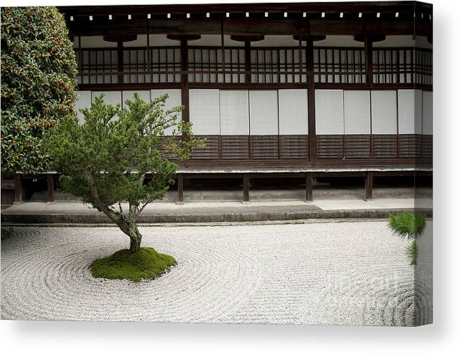 Beau Japan Canvas Print Featuring The Photograph Japanese Traditional Stone  Garden In Kyoto Japan By Jacek Malipan