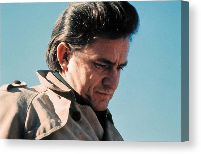 Johnny Cash Music Homage Ballad Of Ira Hayes Mount Suribachi Joe Rosenthal Canvas Print featuring the photograph Johnny Cash Music Homage Ballad Of Ira Hayes Old Tucson Arizona 1971 by David Lee Guss