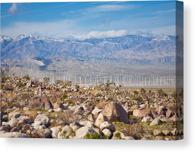 Desert Canvas Print featuring the photograph Layers Of The Desert by Matthew Bamberg