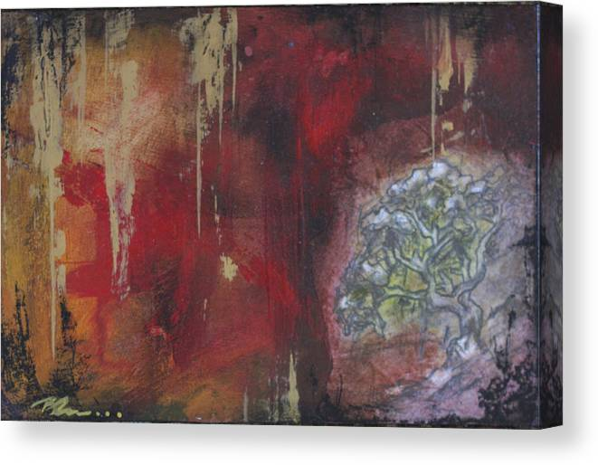 Floral Canvas Print featuring the mixed media Life In The Rain by Bhreon Bynum