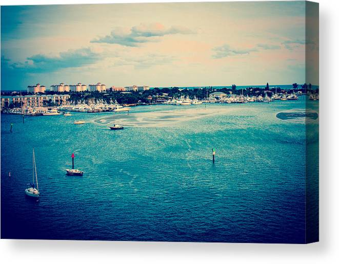 Low Tide Canvas Print featuring the photograph Low Tide by Terrence Downing