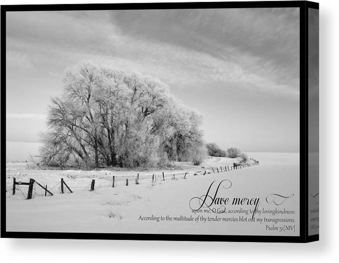 God Canvas Print featuring the photograph Mercy by Timothy Eberly