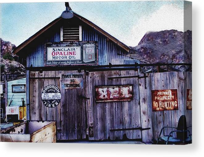 Canvas Print featuring the photograph Miner's Workshop by Brenda Harrah