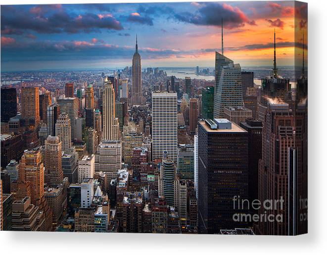America Canvas Print featuring the photograph New York New York by Inge Johnsson