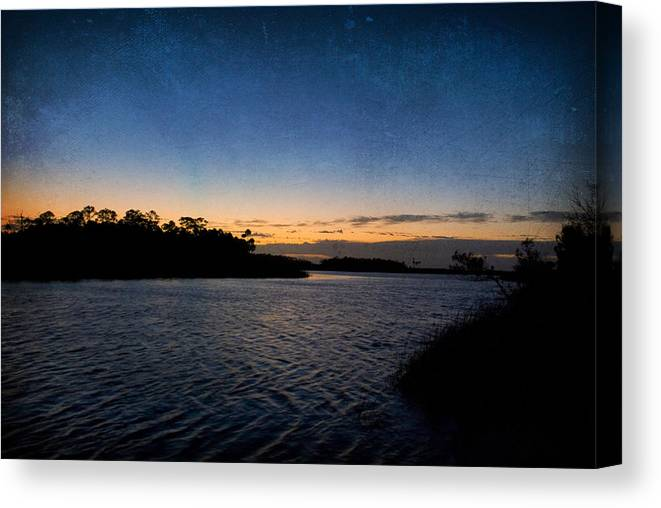 Blue Canvas Print featuring the photograph Nightfall by Beverly Stapleton