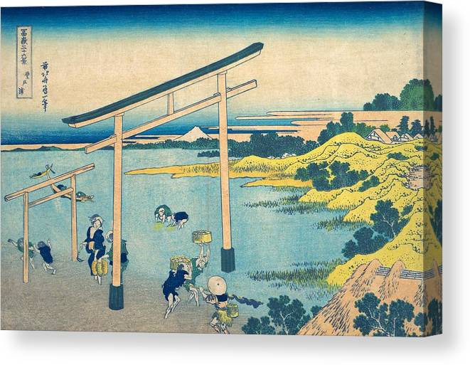 1830-1832 Canvas Print featuring the painting Noboto Bay by Katsushika Hokusai