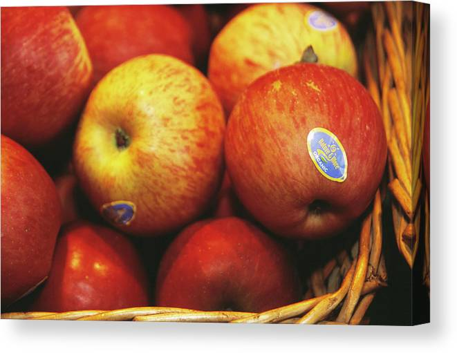 Food Canvas Print featuring the photograph Organic Apples by Antonia Reeve/science Photo Library