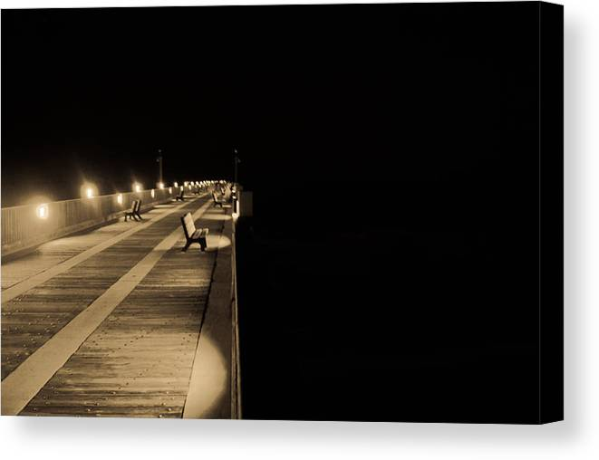 Pier Canvas Print featuring the photograph Path To Nothingness by Jon Cody