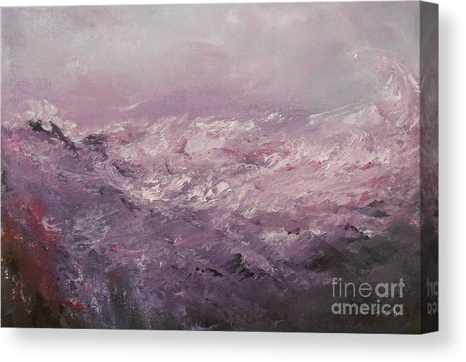 Abstract Canvas Print featuring the painting Pink Emotions by Jane See