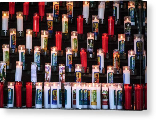 Candles Canvas Print featuring the photograph Religious Candles by Diego Re