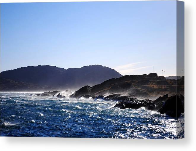 Greenland Canvas Print featuring the photograph Stormy Day by Andreea-Elena Tibuleac