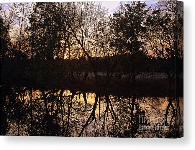 Jordan Creek Canvas Print featuring the photograph Sunset Along Jordan Creek by M Hess