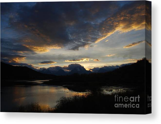 Landscape Canvas Print featuring the photograph Sunset by Jim Goodman