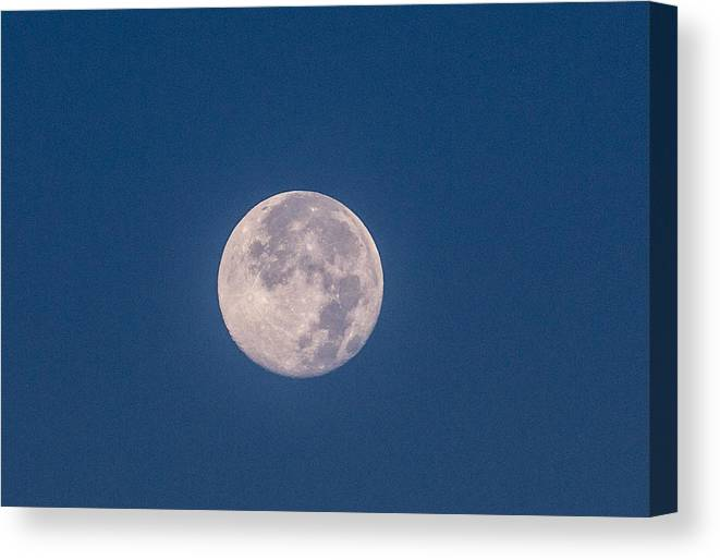 Super Moon Canvas Print featuring the photograph Super Moon July 2014 by Renny Spencer
