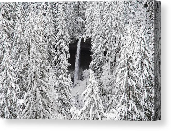 North Falls Canvas Print featuring the photograph The North Falls View by Gene McKinley