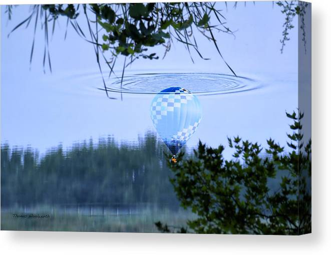 Balloon Canvas Print featuring the photograph The Source Of Lake Ripples 01 by Thomas Woolworth