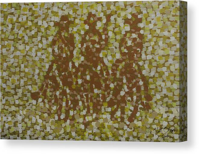 Three Canvas Print featuring the painting Amigos by Kurt Olson
