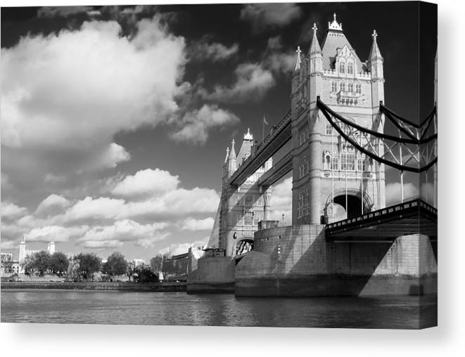 Architecture Canvas Print featuring the photograph Tower Bridge by Darren Patterson