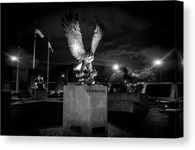 War Canvas Print featuring the photograph War Memorial by Jon Cody