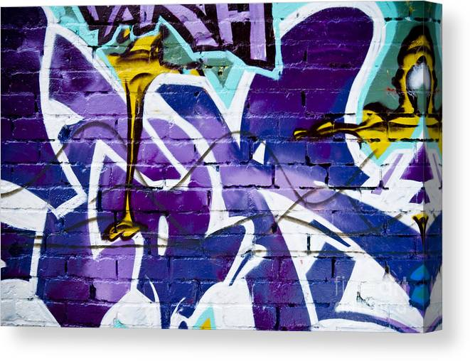 Abstract Graffiti Detail On The Textured Wall Canvas Print
