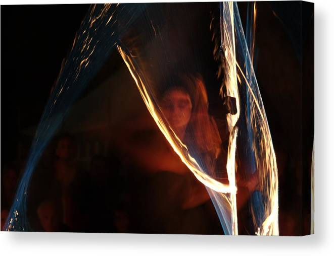 Fire Canvas Print featuring the photograph Playing With Fire by Ulrich Kunst And Bettina Scheidulin