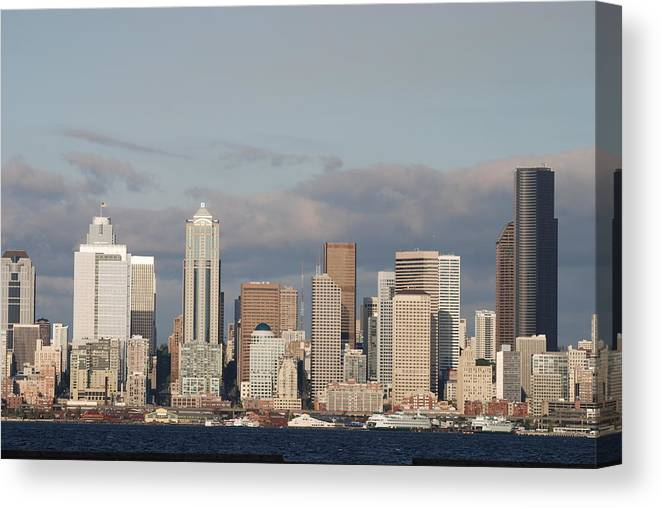 Seattle Canvas Print featuring the photograph Seattle Skyline by Michael Merry
