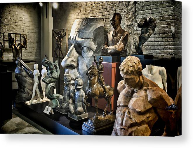 Sculptures Canvas Print featuring the photograph Statues by Dave Dick