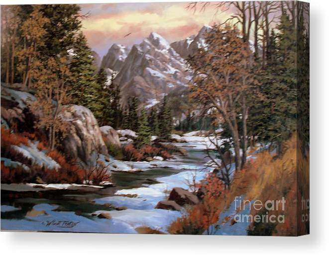 This A Painting I Composed Using The Multuple Colors Of The Winter Canvas Print featuring the painting Winter's Palette by W Scott Fenton