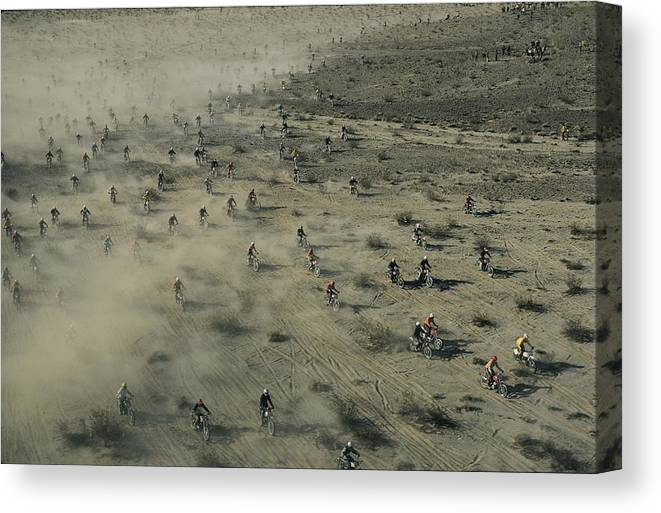 Scenes And Views Canvas Print featuring the photograph Aerial View Of Hundreds by Walter Meayers Edwards
