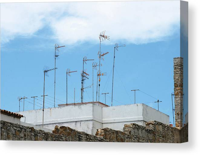 Spain Canvas Print featuring the photograph Antenna In The Sky by Perry Van Munster