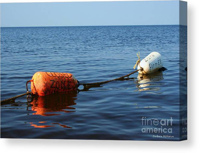 Buoy Canvas Print featuring the photograph Closed by Barbara McMahon