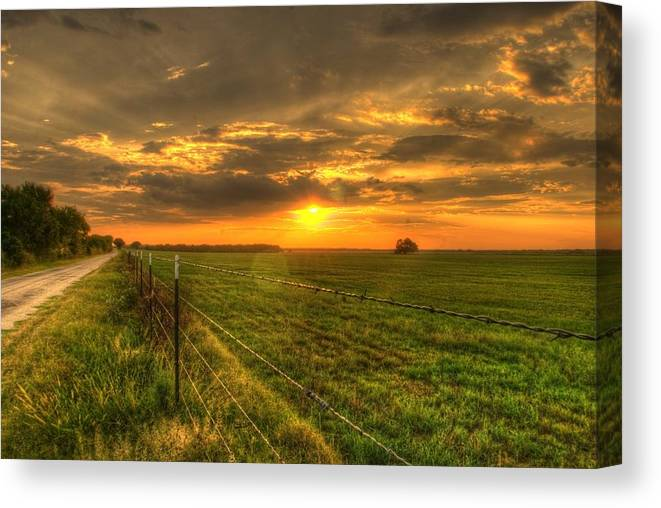 Sunset Canvas Print featuring the photograph Country Roads Sunset by Beth Gates-Sully