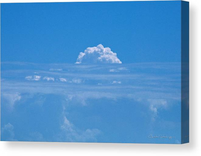 Clouds Canvas Print featuring the photograph Head In The Clouds by Christine Stonebridge
