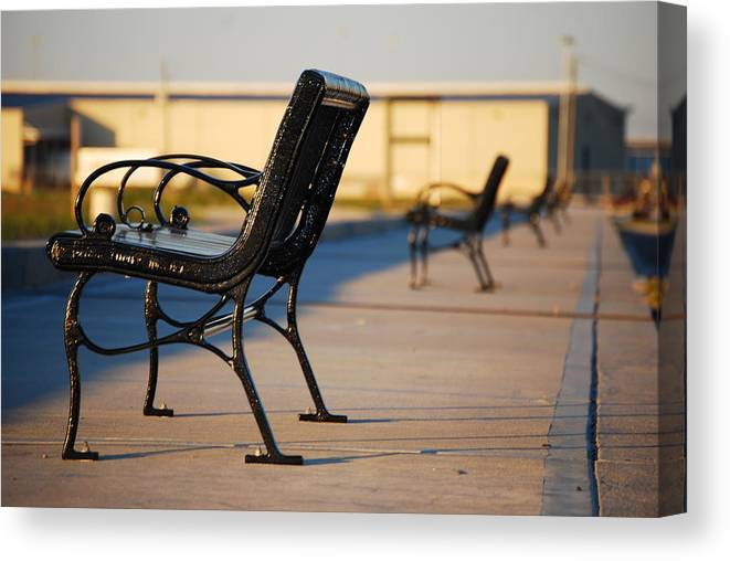 Iron Canvas Print featuring the photograph Iron Bench by Beth Gates-Sully