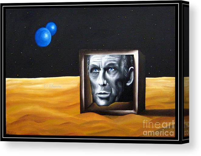 Mind Canvas Print featuring the painting Mind by Kleopatra Aurel