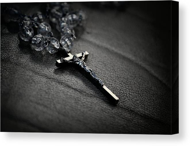 Cross Canvas Print featuring the photograph On The Cross by Amee Cave