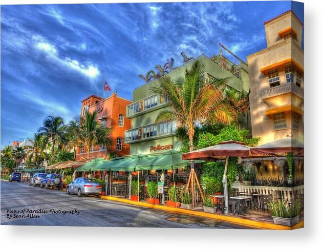 Florida Canvas Print featuring the photograph Pelican Hotel by Sean Allen