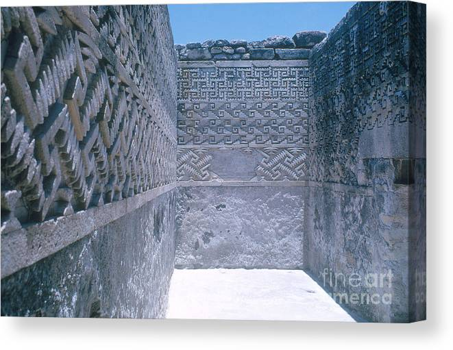 People Canvas Print featuring the photograph Prehistoric Ruins Of Mitla by Photo Researchers, Inc.