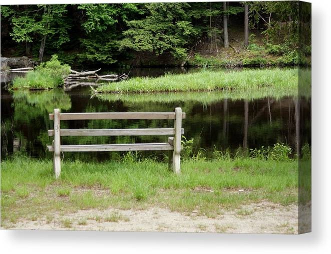 Pond Canvas Print featuring the photograph Serenity by Lois Lepisto