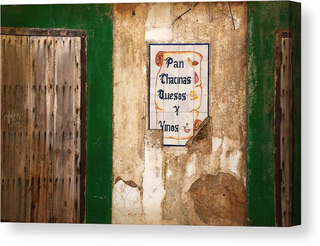 Spain Canvas Print featuring the photograph Spanish Wall by Perry Van Munster