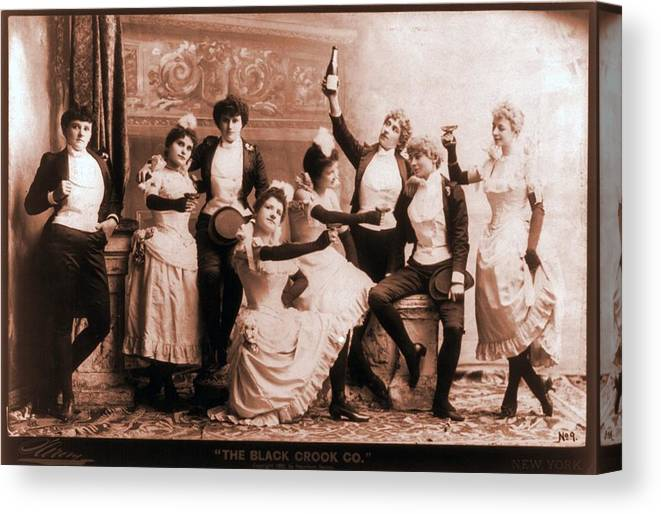 History Canvas Print featuring the photograph The Black Crook Company, Portraying by Everett