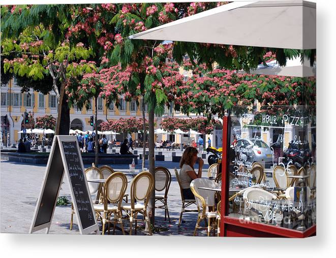Nice Canvas Print featuring the photograph Trees In Bloom Nice by Andrea Simon